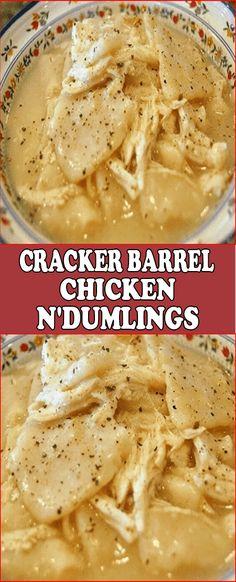 Cracker Barrel chicken n' dumplings – Cook Guide Casserole Recipes, Crockpot Recipes, Soup Recipes, Chicken Recipes, Dinner Recipes, Cooking Recipes, Copycat Recipes, Dinner Ideas, Chicken Ideas