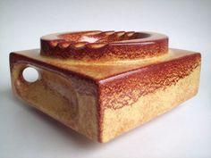 Keramik-Schale-Ascher-Deko-Bertoncello-Pottery-Italy-op-art-design-vintage