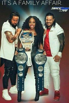 Jimmy & Jey uso are 3x WWE Tag Team Champion & Naomi is 2x WWE SD Women's Champion