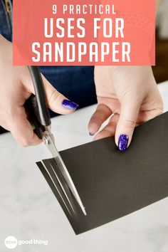 From slippery shoes to germ-ridden cutting boards, sandpaper can fix all sorts of household problems! Simple Life Hacks, Useful Life Hacks, Sandpaper, Diy Projects, Project Ideas, Cutting Boards, Diy Organization, Fun To Be One, Housekeeping