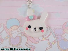 Hey, I found this really awesome Etsy listing at http://www.etsy.com/listing/122104600/fairy-kei-lolita-bunny-necklace
