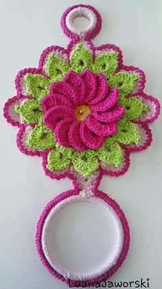 Crochet Owls, Crochet Potholders, Thread Crochet, Crochet Doilies, Crochet Flowers, Crochet Towel Holders, Crochet Towel Topper, Easy Crochet Patterns, Crochet Designs