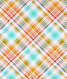 Joel Dewberry Tartan Poppy Fabric perfect for spring time entertaining or Easter table