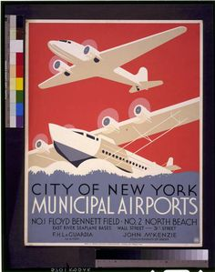 City of New York municipal airports: No. 1 Floyd Bennett Field, No. 2 North Beach. WPA 1937, Christopher DeNoon?
