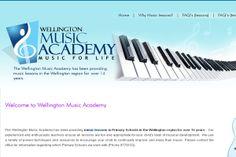 Wellington Music Academy- Teaching Website Design