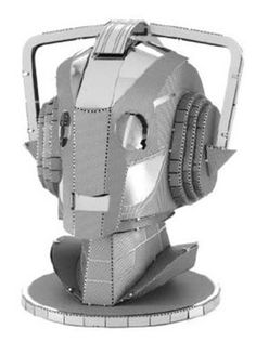 Doctor Who Cyberman Head Metal Earth Model Kit - Fascinations - Doctor Who - Model Kits at Entertainment Earth Metal Earth Models, Metal Models, Doctor Who Merchandise, Earth 3d, Gold Sheets, Doctor Who Tardis, Our Solar System, Anime Fairy, Matt Smith