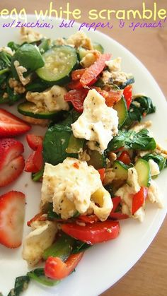 Egg White Scramble W/ Zucchini, Bell Pepper, & Spinach! – Simply Taralynn
