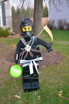 Homemade LEGO Ninjago Halloween Costume for a Boy... This website is the Pinterest of costumes