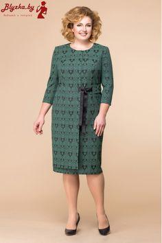 Платье женское RN-1-1560-4 Plus Size Dresses, Sexy Dresses, Plus Size Outfits, Casual Dresses, Fashion Dresses, Mature Fashion, Curvy Girl Fashion, Moda Xl, Big Size Fashion