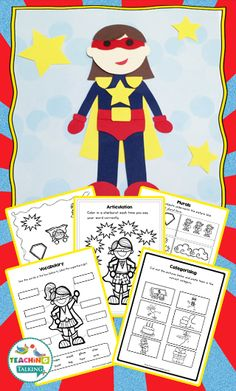 Speech and Language Craftivities - Use this 500+ page resource with your Kindergarten, 1st, 2nd, or 3rd grade speech therapy or special education students. The printable worksheets cover all four seasons, various holidays, and popular classroom themes (such as pirates and superheroes). You get all the materials you need to help students master their speech and language goals. Focus on targets, while having fun! {K, first, second, third graders}
