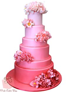 ombre cake pink wedding cake I really like this. Amazing Wedding Cakes, Elegant Wedding Cakes, Wedding Cake Designs, Cake Wedding, Wedding Ideas, Trendy Wedding, Gold Wedding, Wedding Photos, Dream Wedding