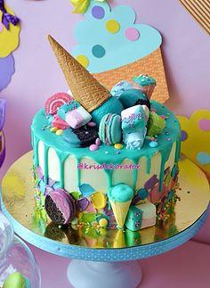 Сладкий стол про....СЛАДОСТИ :)))) - Кондитерская - Babyblog.ru 17 Birthday Cake, Homemade Birthday Cakes, Candy Cakes, Cupcake Cakes, Lolly Cake, Dessert Platter, Ice Cream Candy, Decadent Cakes, Creative Desserts
