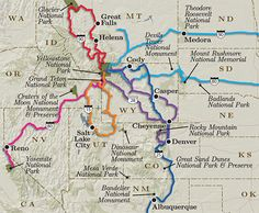 Yellowstone Road Trip Map
