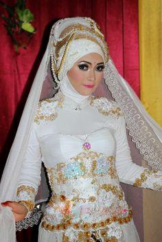 Unique Wedding Hijab Dress for Bridals