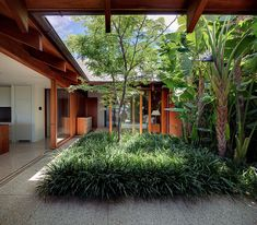 44 Modern Courtyard Design Ideas - Southwestern architecture and adobe homes are not complete without a courtyard feature. Popular with Arizona homeowners, as in history, the courtyard . Courtyard Design, Courtyard House, Patio Design, Exterior Design, Interior And Exterior, Conservatory Design, Modern Courtyard, Indoor Courtyard, Atrium House