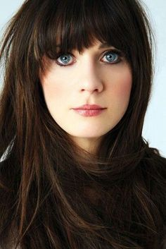Zooey Deschanel. Love her bangs!