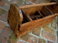 Rustic Tool Caddy Box  Dividers  Shabby  French by honeystreasures  #countryliving #dreamporch