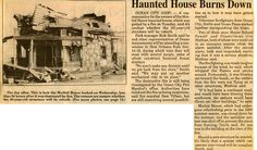 Newspaper article concerning the fire that destroyed Morbid Manor. 2 of Volunteer Firefighter, 20 Years Old, Ocean City, Historical Photos, Newspaper Article, Maryland, Scrapbook, Friends, House
