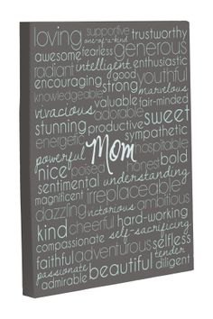 """Mom Description"" Gray December Sky Canvas Print on HauteLook Combine these words with the black and white painting."
