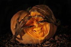 Shy Pumpkin | Top 10 3D Pumpkin Carvings...in The World