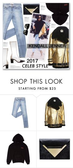 """KENDALL JENNER"" by nanawidia ❤ liked on Polyvore featuring Acne Studios, Studio Concrete, Dareen Hakim, Yves Saint Laurent, Winter, kendalljenner, 2017 and winterstyle"