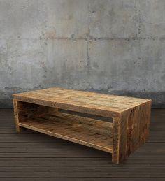 Mesa de centro de madera reciclada por AtlasWoodCo en Etsy