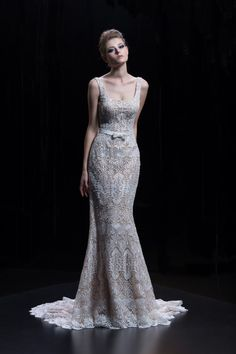 Platinum by Demetrios collection spring 2018 Style DP 327 Lace and Chiffon dress with a small tie belt (not included). Available in: white, ivory, ivory/nude Bridal Collection, Dress Collection, Bridal Gowns, Wedding Gowns, Formal Wear, Formal Dresses, Chiffon Dress, Dress Making, Evening Dresses