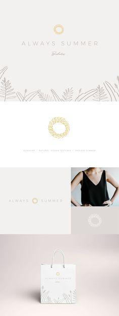 Always Summer branding by Wayfarer Design Studio // Design, branding, brand, brand identity, logo, logos, graphic design, identity, illustration, boutique, store, barbados, summer, cafe, botanical, floral