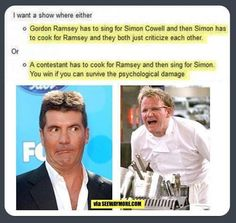 The Memes Factory Show with Gordon Ramsey and Simon Cowell