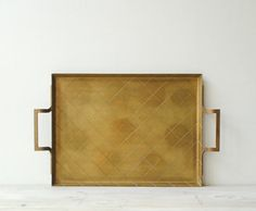 Vintage Brass Serving Tray by LittleDogVintage on Etsy