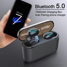 Wireless Earphones TWS Wireless Headphones Bluetooth Sports Earphone Stereo Sound Wireless Earbuds With Charging Box Mic Best Headphones, Sports Headphones, Bluetooth Headphones, Gaming Headset, Wireless Headset, Bronze Makeup Look, Noise Cancelling, Best Makeup Products, Gaming Accessories