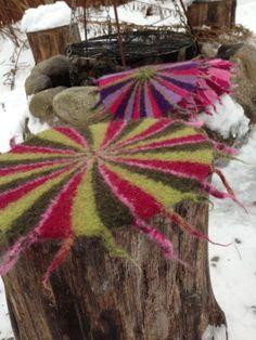 Loom Knitting, Free Knitting, Knitting Patterns, Sewing Patterns, Wet Felting, Needle Felting, Crochet Home, Knit Crochet, Felt Crafts