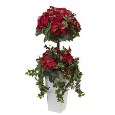 4' Poinsettia Berry Topiary w/Decorative Planter *** Read more reviews of the product by visiting the link on the image.