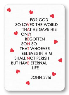 Valentine Love - John 3:16 (Package of 8) – Maison de Papier