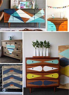como pintar e decorar moveis antigos