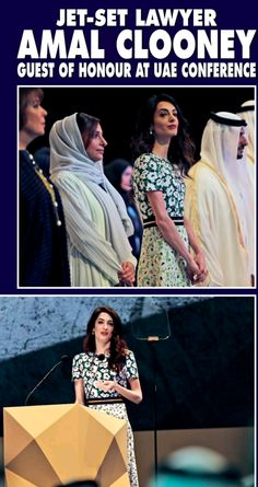 Amal Clooney talks human rights in Mideast speech | March 20, 2016