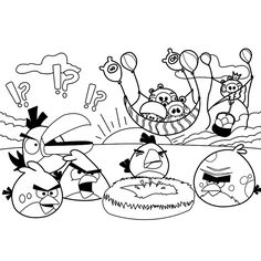 Leuk voor kids kleurplaat ~ Angry Birds