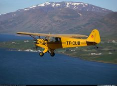 Flying close to the town of Akureyri - Photo taken at In Flight in Iceland on July Piper J3 Cub, Airplane Painting, Piper Aircraft, Angel Flight, Bush Plane, Pilot License, Float Plane, Jet Plane, Aviation Art