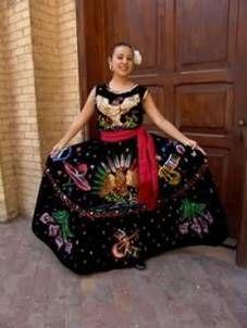 Traje típico de Jalisco Mexico.