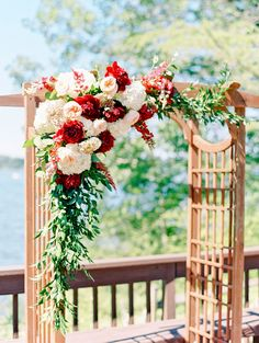 Beautiful fall toned arbor | http://adrianamarieevents.com | Floral and Bloom