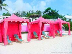 hot pink cabanas