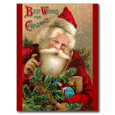 Vintage Santa Claus with Toys Post Cards