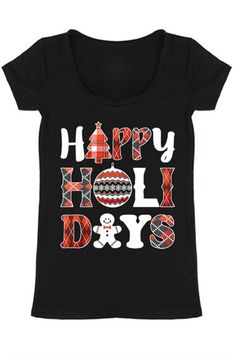 Happy Holidays Graphic T-Shirt – Niobe Clothing