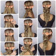 2 Peinados bonitos con trenzas para cabello largo ~ Belleza y Peinados