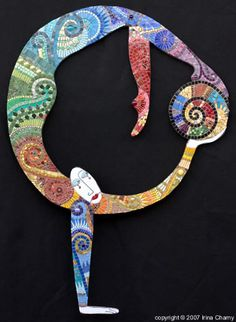 Another by Irina Charny . . . kind of a mosaic cirque du soleil---so cool.