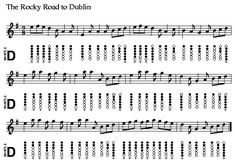 Rocky Road to Dublin Irish Flute, Mountain Dulcimer, Tin Whistle, Flute Sheet Music, Native American Flute, Man Of The House, Music Notes, Lyrics, Songs