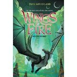 Wings of Fire Book 6: Moon Rising by Tui Sutherland (released January 6, 2015). Hidden in the rainforest for most of her life, the young NightWing has an awful secret. She can read minds, and even see the future. Living in a cave with dozens of other dragons is noisy, exhausting--and dangerous.  In just a few days, Moon finds herself overwhelmed by her secret powers and bombarded by strange thoughts, including those of a mysterious dragon who might be a terrible enemy.
