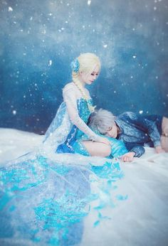 Elsa from Disney's Frozen Jack Frost from Dreamworks' Rise of the Guardians