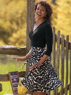 Women's Perfect Wrap Dress | Sahalie.com