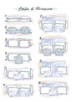 Aprenda a organizar os travesseiros da sua cama de casal Home Bedroom, Bedroom Decor, Bedding Master Bedroom, Guest Bedrooms, Bed Styling, Interior Design Tips, Interior Inspiration, Home Staging, My Room